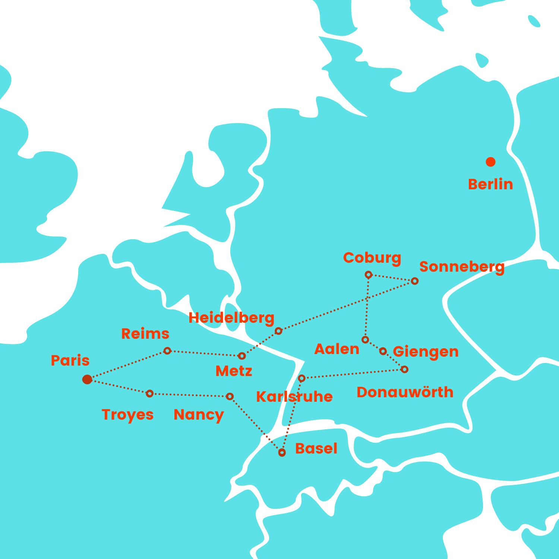 Carte tour Poupée visite puppe 2022